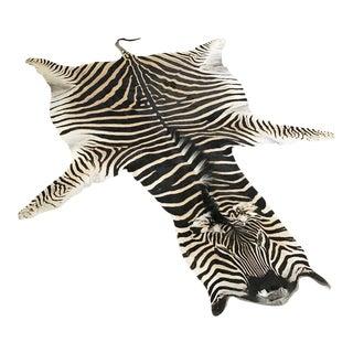 """Natural Zebra Hide Rug - 8'4"""" x 6'3"""