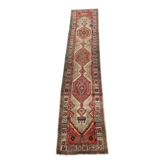 "Vintage Distressed Persian Sarab Runner - 2'6"" x 12'6"""