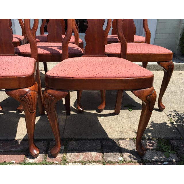 Queen Anne Style Mahogany Dining Chairs - Set of 8 - Image 3 of 7