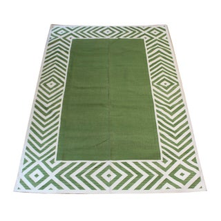 "Madeline Weinrib Green ""Darlington"" Rug - 6' X 9'"