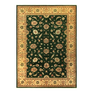 Kafkaz Peshawar Judith Green & Light Gold Wool Rug - 9'1 X 12'7