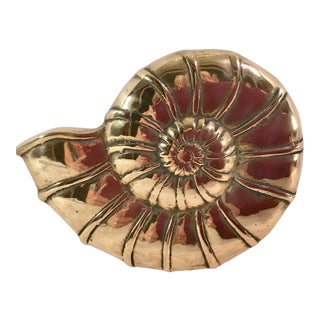 Round Brass Shell Wall Hanging