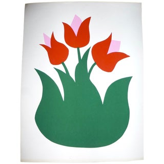 "Calvin Libby ""Three Tulips"" Print"