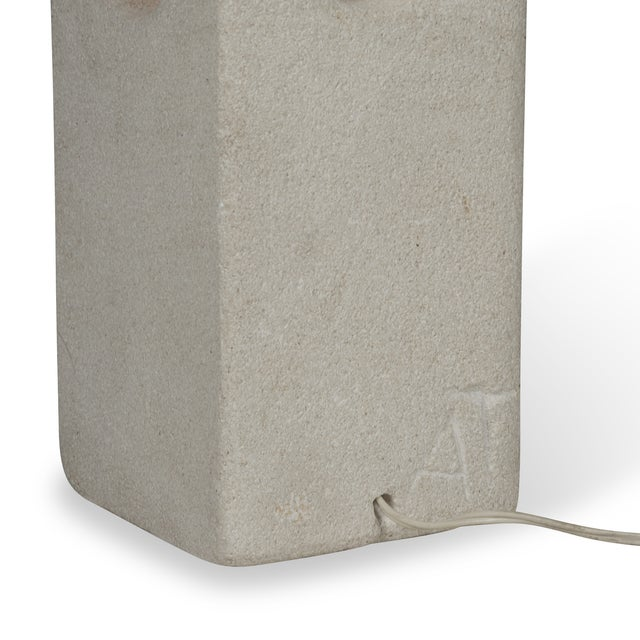 Stone Column Table Lamp by A. Tormos - Image 9 of 9