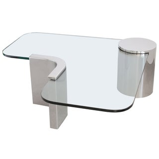 Polished Steel Cantilever Coffee Table