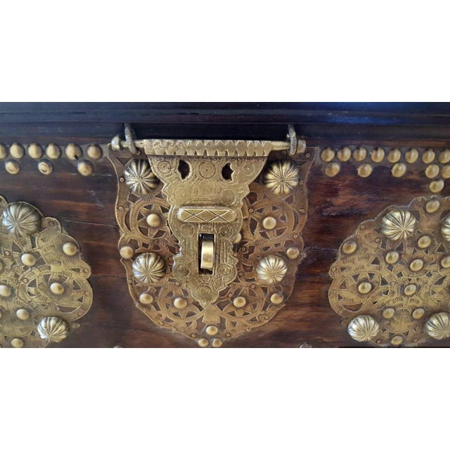 Royal Antique Style Treasure Trunk Coffee Table - Image 3 of 6