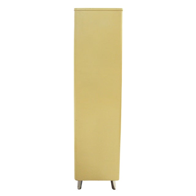 Image of Yellow Mid-Century Medical Cabinet