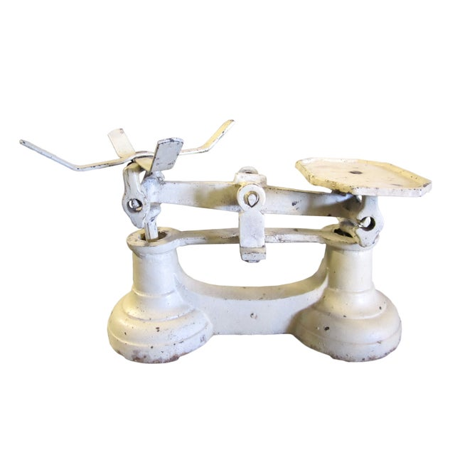 Image of Vintage Industrial White Small Balance Scale
