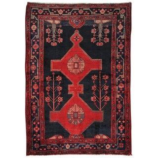 """Vintage Hamadan Wool Area Rug- 5' x 7' 4"""""""