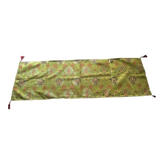 "Authentic Green Kilim Patterned 54""x 18.5""Table Runner"