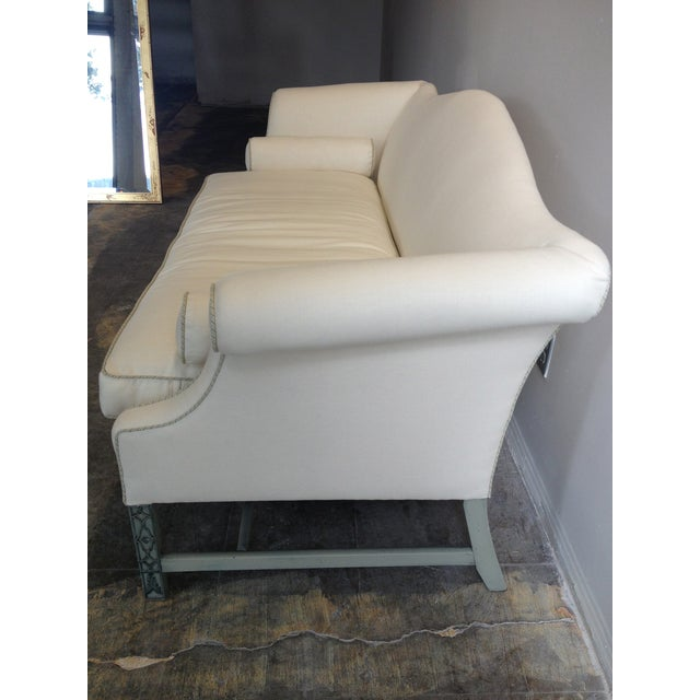 Image of Kittinger Chippendale Sofa With Fretwork Legs