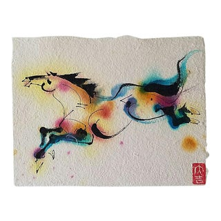 Chinese Horse Abstract Brush Painting