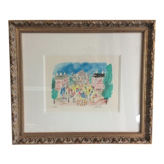Charles Cobelle Paris Scene Watercolor Print