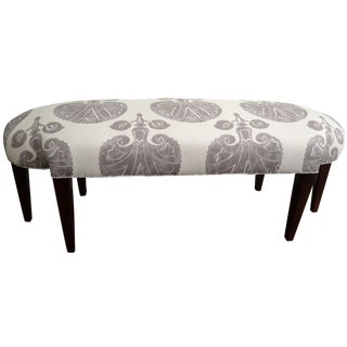 Custom Charles Stewart Bench & Lee Jofa Upholstery