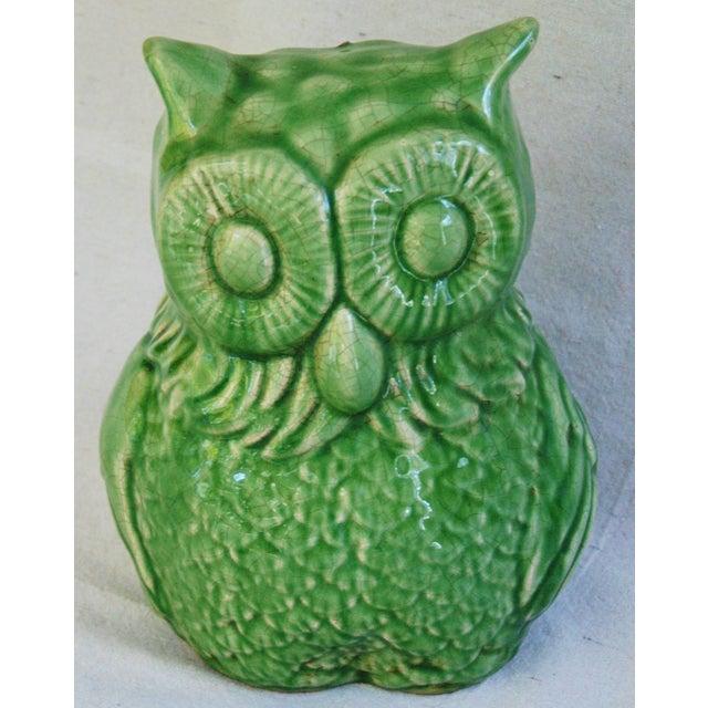 Mid-Century Italian Green Terracotta Owl - Image 8 of 9
