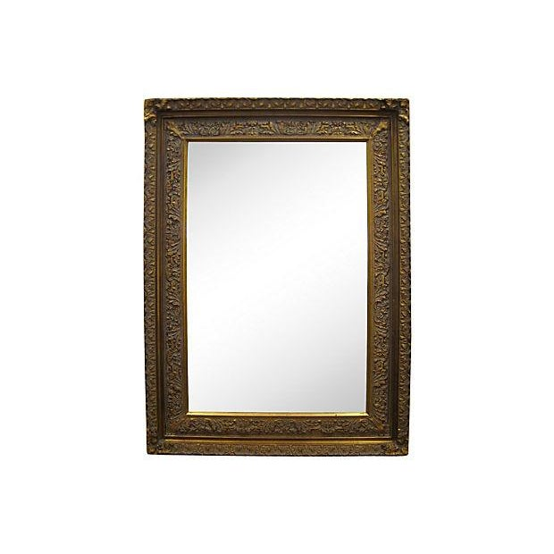 Image of Carved Wood & Gesso Mirror