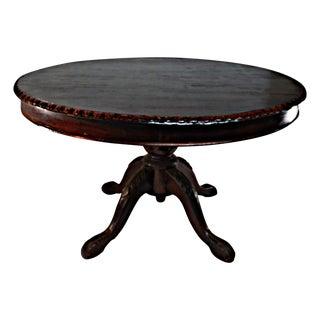Ornate Mahogany Round Dining Table