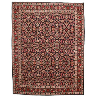 Hand Knotted Persian Bijar Rug - 10′2″ × 12′9″