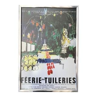1970s French Concert Poster Framed