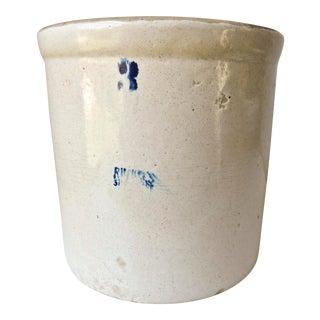 Vintage 3 Gallon Stoneware Crock