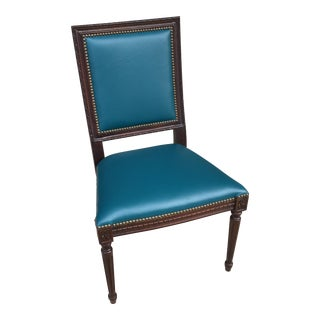 Massoud Regency Style Leather Accent ChairVintage   Used Accent Chairs   Chairish. Aqua Leather Accent Chair. Home Design Ideas