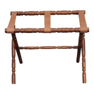 Mid-Century Carved Walnut Luggage Rack