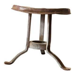 Antique Industrial Steel Milking Stool