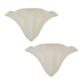 Pair of Richard Etts Handkerchief Wall Sconces in White, Signed and Dated
