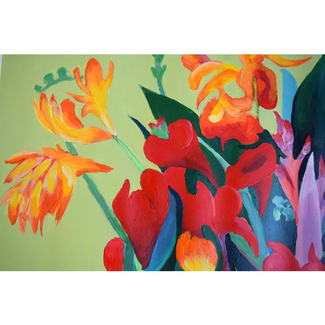 Pot De Fleurs Acrylic Painting - Image 8 of 8