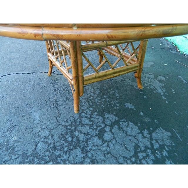 Vintage Mersman Rattan Chippendale Coffee Table