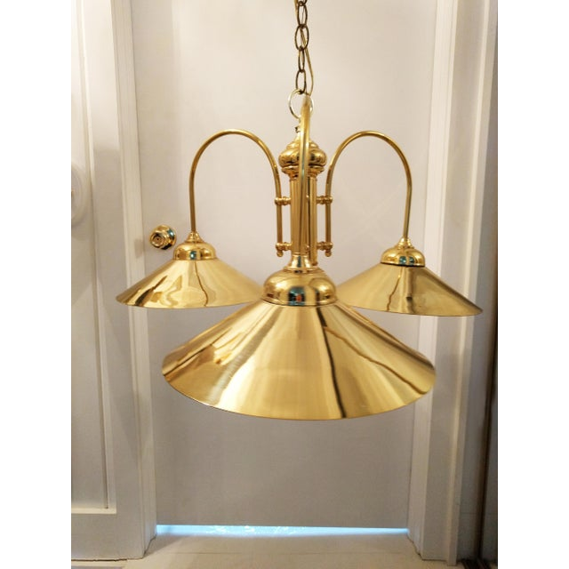 Vintage Brass Raindrop Pendant Light - Image 3 of 4