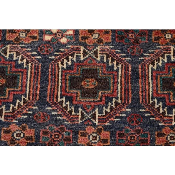 Hand Knotted Persian Baluch Rug - 3′3″ × 6′10″ - Image 8 of 9