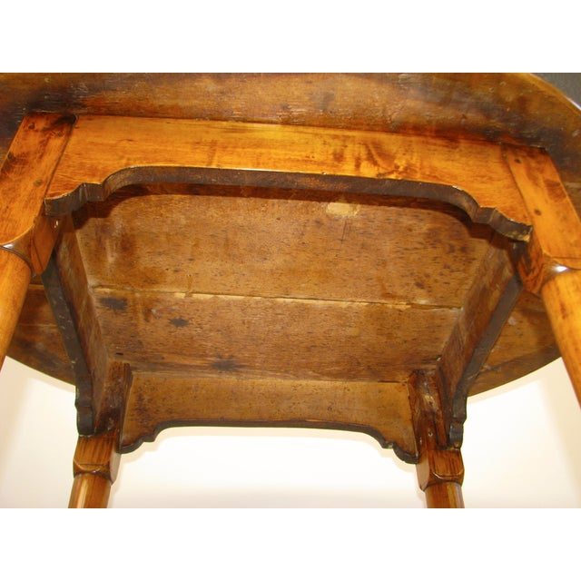 Queen Anne Birds-Eye Maple Oval Tea Table 18th C - Image 6 of 11