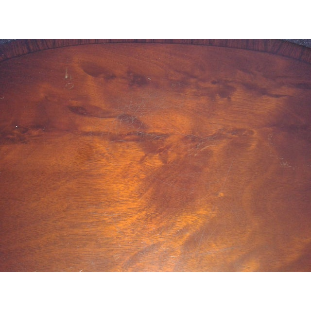 Image of Antique Sheraton Wood & Brass Side Tables - A Pair