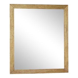 19th Century Directoire Reeded Gilt Mirror