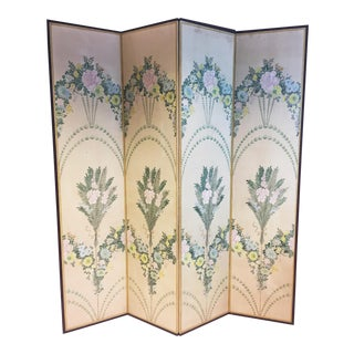Mid Century Asian Folding Screen Room Divider