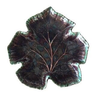Large Royal Haeger Purple Leaf Bowl