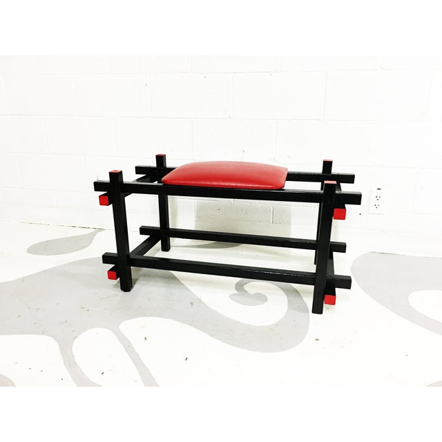 Bauhaus Style Entryway Bench - Image 2 of 6