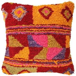 "Colorful Vintage Turkish Tulu Pillow | 20"""
