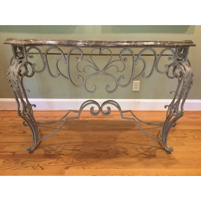 Vintage Marble Top Console - Image 6 of 6