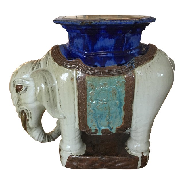 Vintage Elephant Garden Stool or Side Table - Image 1 of 7
