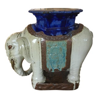 Vintage Elephant Garden Stool or Side Table