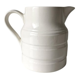 Vintage English Creamware Pottery Pitcher