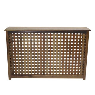 Burma Teak Lattice Console Table