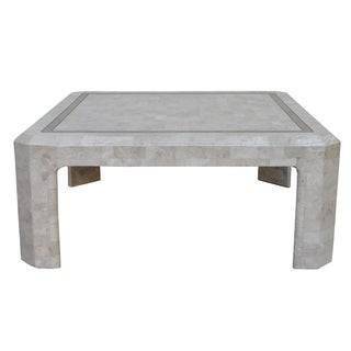 Tessellated Marble & Brass Coffee Table