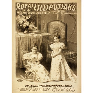 """Royal Lilliputians"" Reproduction 1800s Vaudeville Poster Print"