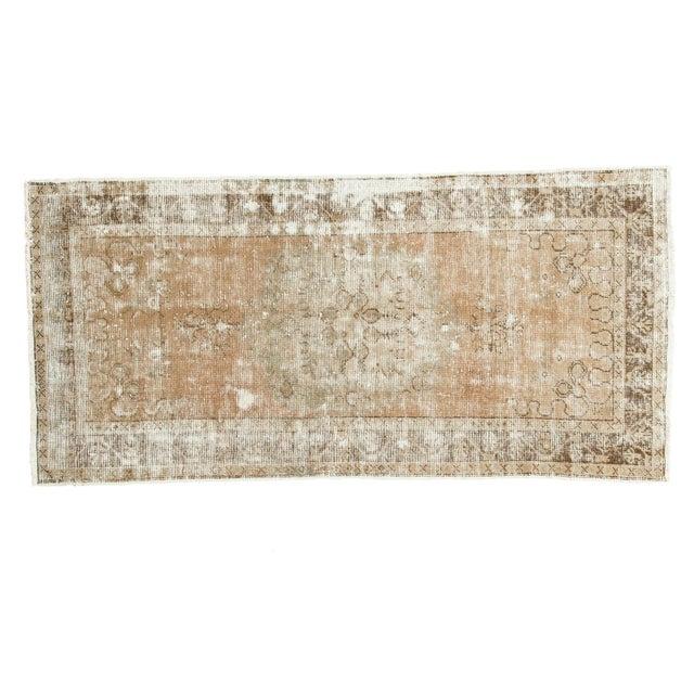 Image of Vintage Oushak Distressed Rug Runner - 3′ × 6′1″