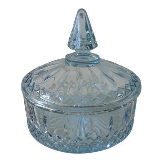 Soft Blue Glass Lidded Keepsake