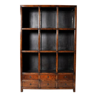 Chinese Display Cabinet with Six Drawers