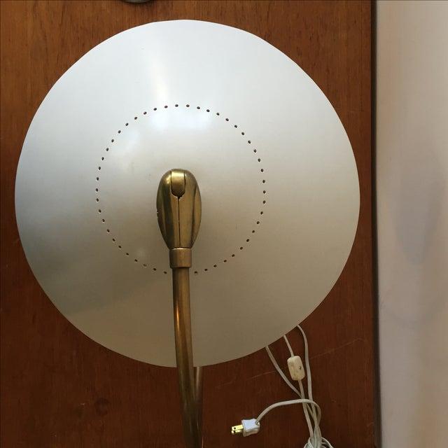 Mid-Century 1960s White & Gold Desk Lamp - Image 10 of 11